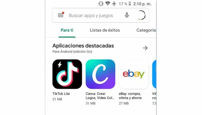 Abre Google Play Store