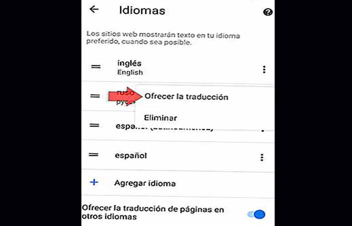 Traductor Google Chrome en Android