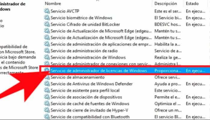 Servicio del Administrador de licencias de Windows
